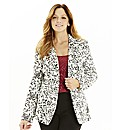 Printed Ponte Soft Tailored Blazer