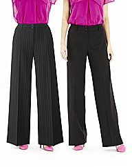 Pack Of 2 Trousers Length 30in