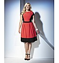 Truly WOW Colour Block Skater Dress