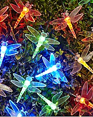 Set Of 80 Multicolour Dragonfly Lights