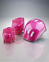 Girls Pink Helmet and Pads Set