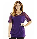 Lace Insert Jersey Top