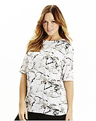Mineral Print Shell Top