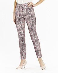 Spot Jacquard Trousers Length 29in