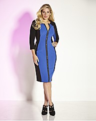 Truly WOW Zip Front Illusion Dress