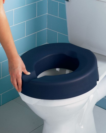 Derby Toilet Seat Extra Height Soft Blue