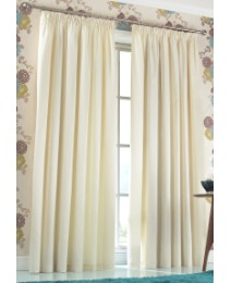 Tessa plain dyed lined curtains