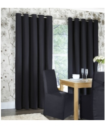 Plain Dye Panama Eyelet Curtains