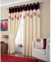 Petula Embroidered Eyelet Curtains