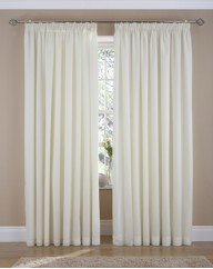 Deco Rose Lined Pencil Pleat Voiles