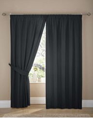 Plain Dye Panama Pencil Pleat Curtains