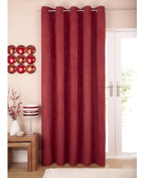 Faux Suede Lined Eyelet Curtain Panel