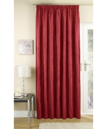 Faux Suede Lined Pencil Pleat Panel