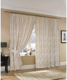 Lisbon Lined Pencil Pleat Curtains