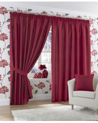 Java Faux Silk Pencil Pleat Curtains