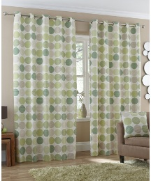 Santiago Lined Eyelet Curtains