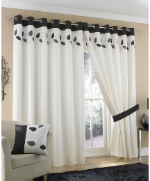 Fernwood Lined Eyelet Curtains