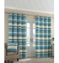 Ritz Striped Eyelet Curtains