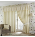Plain Dyed Satin Lined Eyelet Curtains
