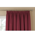 Plain Satin Lined Pencil Pleat Curtains