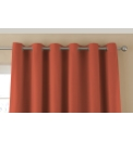 Plain Dye Satin Lined Eyelet Curtains