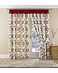 Floral Burst Lined Pencil Pleat Curtains