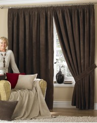 Chenille Thermal Pencil Pleat Curtains