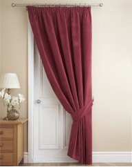 Thermal Velour Pencil Pleat Door Curtain