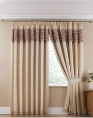 Romantic Rose Lined Pencil Pleat Voiles
