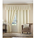 Plain Dye Satin Pencil Pleat Curtains