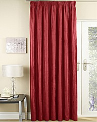 Faux Suede Lined Pencil Pleat Curtains
