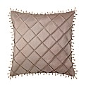 Beaded Faux Silk Filled Cushion
