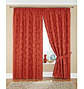 Mimi Floral Jacquard Lined Curtains