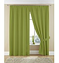 Plain Dye Twill Pencil Pleat Curtains