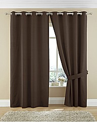 Plain Dye Cotton Twill Eyelet Curtains