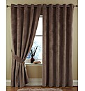 Textured Velour Eyelet Curtains