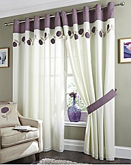 Helena Voile Lined Eyelet Curtains