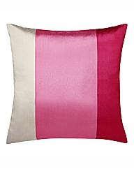 Faux Silk Stripe Cushion Pair