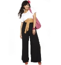 Split Leg Jersey Palazzo Trousers