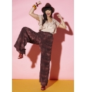 Snake Print Palazzo Trousers
