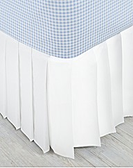 Knife Pleat Easy Fit Bed Valance