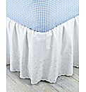 Broderie Anglaise Easy Fit Bed Valance