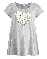 Maternity Heart Top