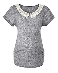 Maternity Lace Collar Tee