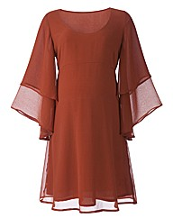 Maternity Layered Sleeve Dress