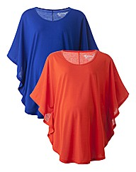 Maternity Pack of 2 Jersey Capes