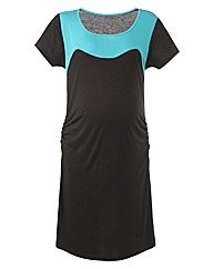 Maternity Colour Block Tunic Dress