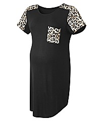 Maternity Leopard Print Sleeve Top