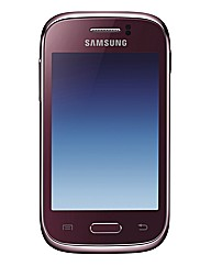 O2 Samsung Young Mobile - Burgundy