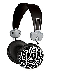 Macbeth Silver Leopard Headphone